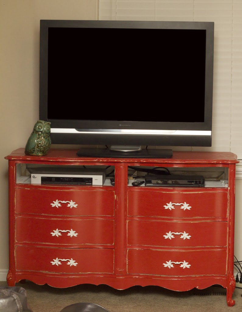 Dresser Turned to Entertainment Center