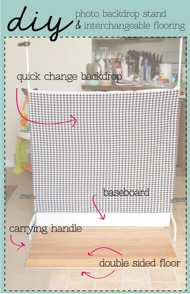 Diy Photo Backdrop Stand Hip Amp Simple