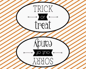Trick or treat Halloween double sided sign