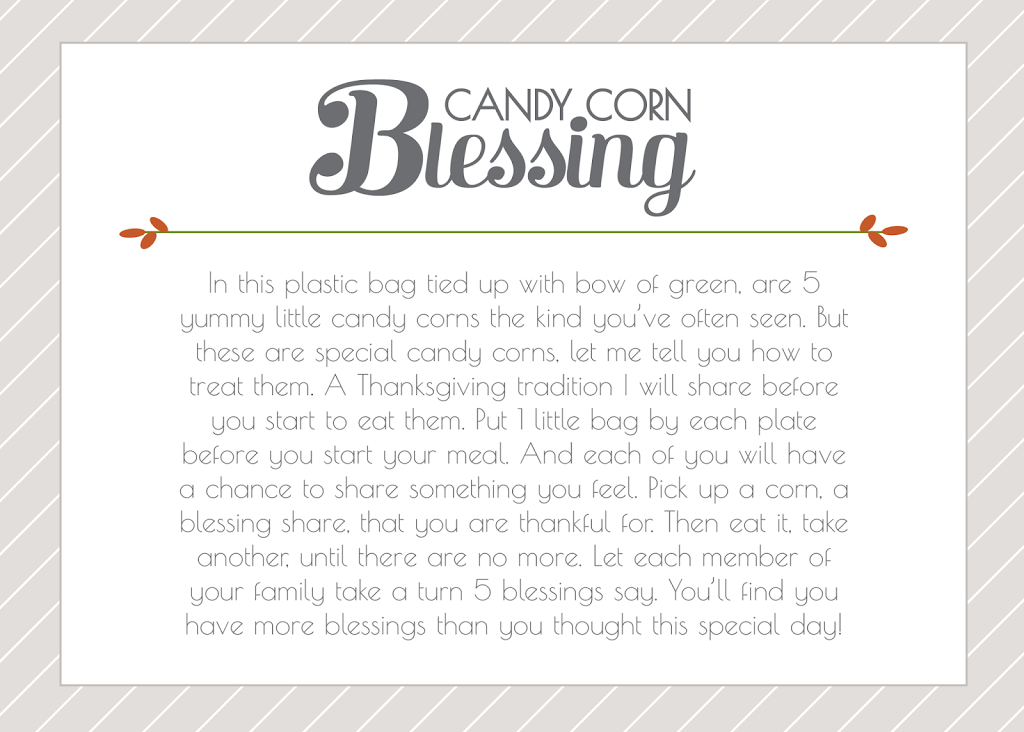 Candy Corn Blessings Printable