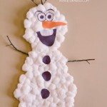Frozen Inspired Olaf Snowman Kids Activity