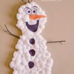 Frozen Inspired Olaf Snowman Kids Activity