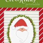 Free Holly & Jolly Christmas Santa Printable