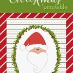 Free Holly & Jolly Christmas Santa Printable
