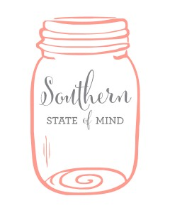 Southern State of Mind Mason Jar Free Printable _White