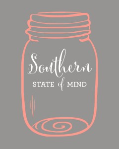 Southern State of Mind Mason Jar Free Printable_Grey