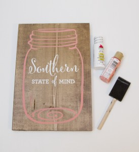 Southern State of Mind Mason Jar free printable board above