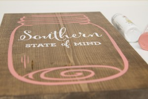 Southern State of Mind Mason Jar free printable board top
