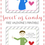 Sweet as Candy Valentine's Free Printable