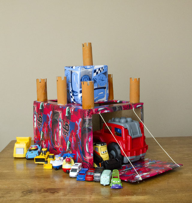 Free Cardboard Castle Project for Cars