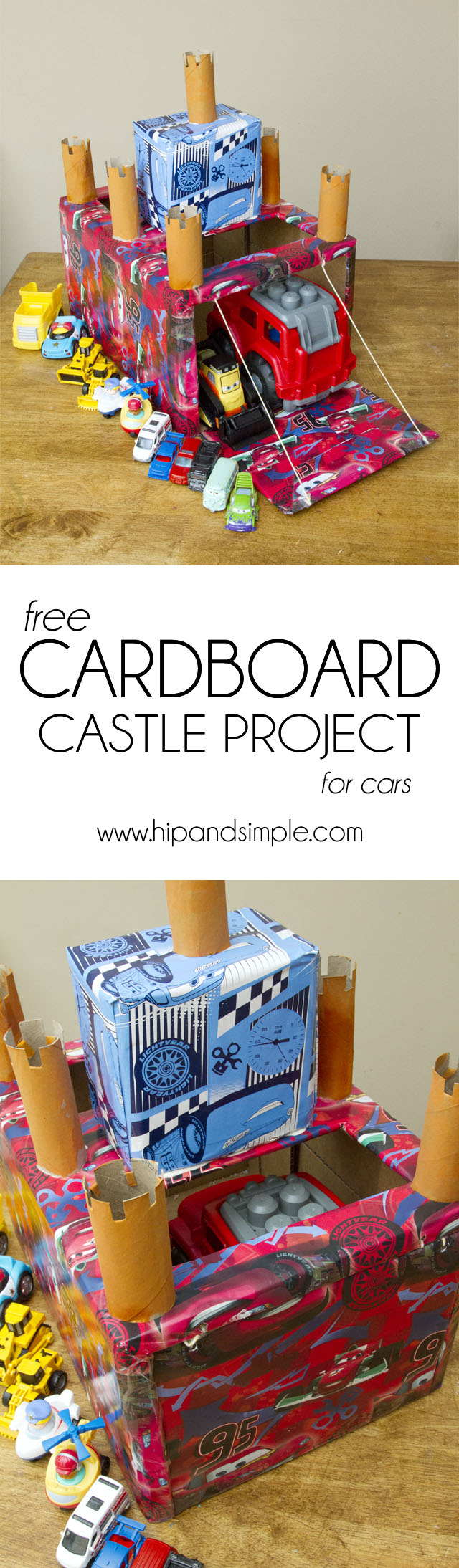 Free Cardboard Castle Project for Cars Final