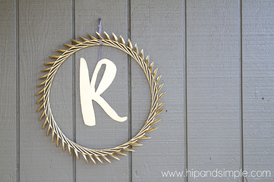 Upcycled Laurel Wreath and Monogram 4