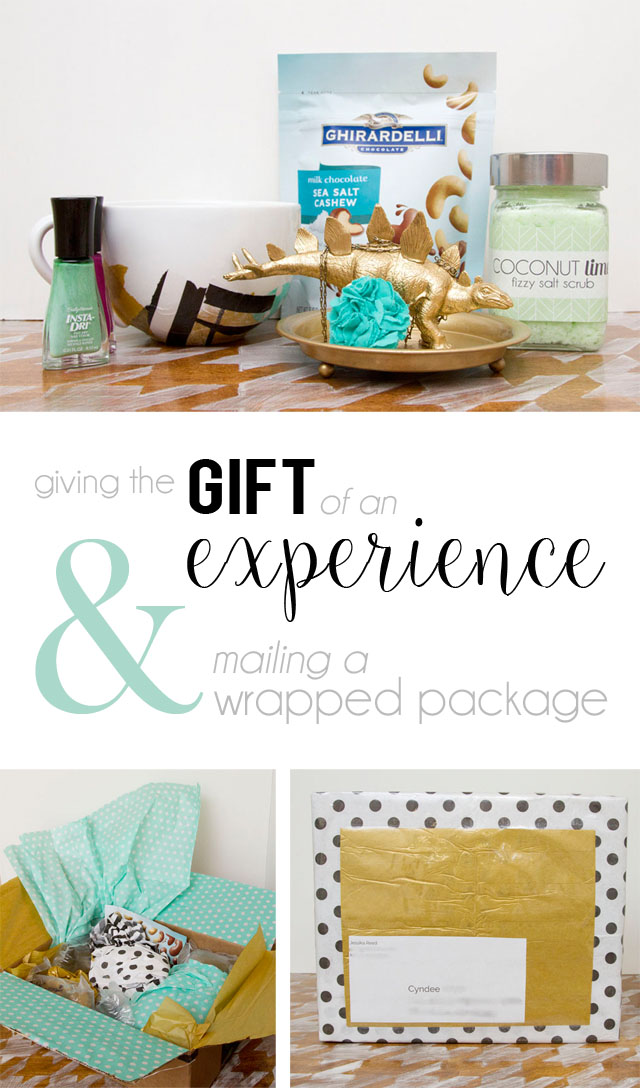 Giving the gift of an experience and mailing a wrapped package - All Final - @hipandsimple