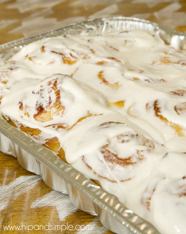 Strawberry Sweet Rolls with Cream Cheese Frosting - frosted 2 - @hipandsimple copy