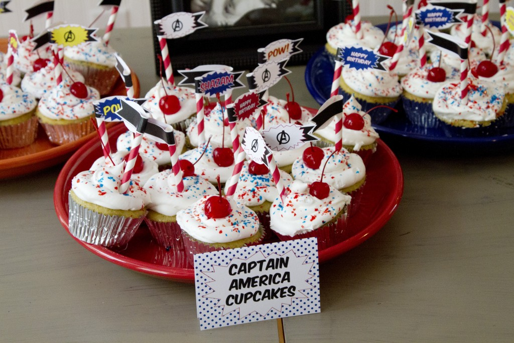 Avengers Themed Birthday Party Free Printables - toppers 2