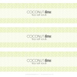 Coconut Lime Fizzy Salt Scrub Recipe plus free printable