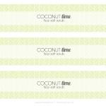 Coconut Lime Fizzy Salt Scrub Recipe plus free printable