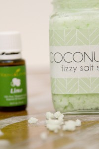 Coconut Lime Fizzy Salt Scrub Recipe Plus Free Printable 2