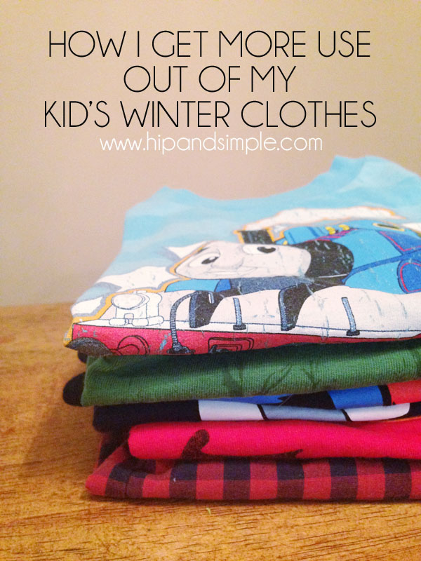 How I get more use out of my kid's winter clothes 1
