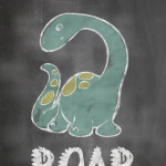 Dinosaur Chalkboard Free Printable