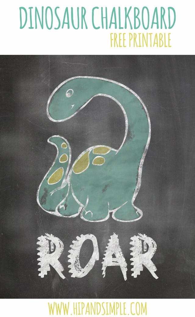 Dinosaur Chalkboard Free Printable final
