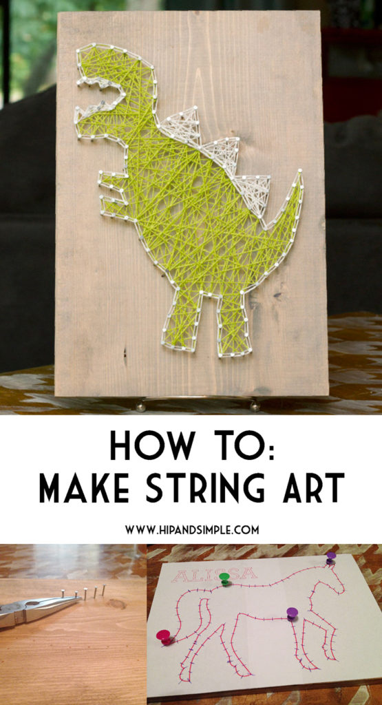 how to make string art hip simple. Black Bedroom Furniture Sets. Home Design Ideas