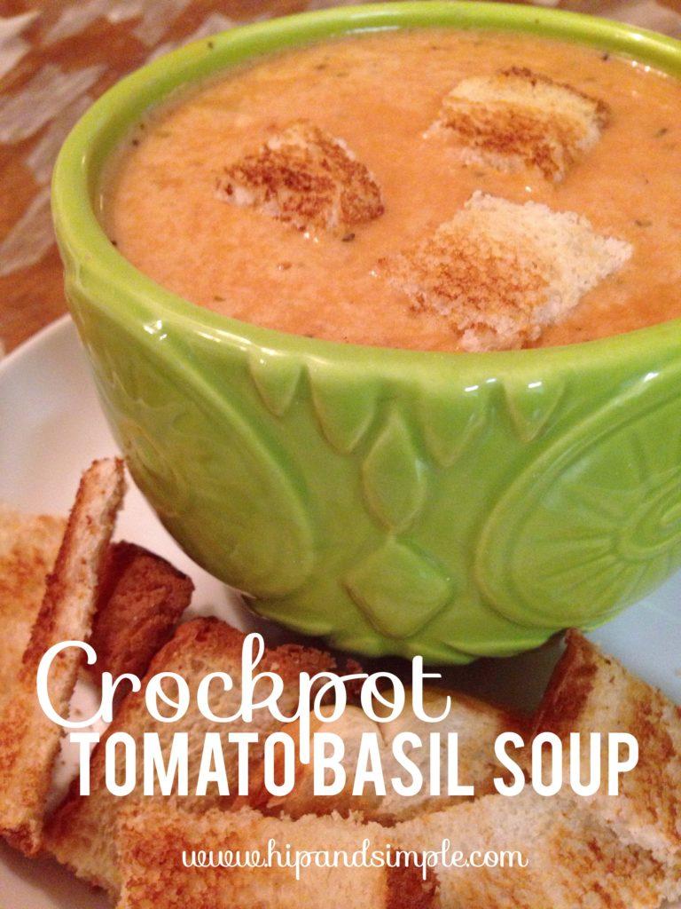 Crockpot Tomato Basil Soup - Hero