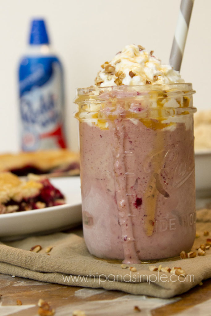 Razzleberry Pecan Salted Caramel Pie Milkshake - featured 2
