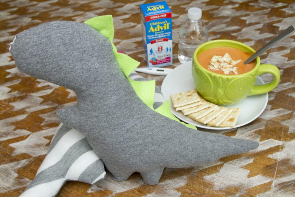 Stuffed Comfort Cuddle Dino Tutorial