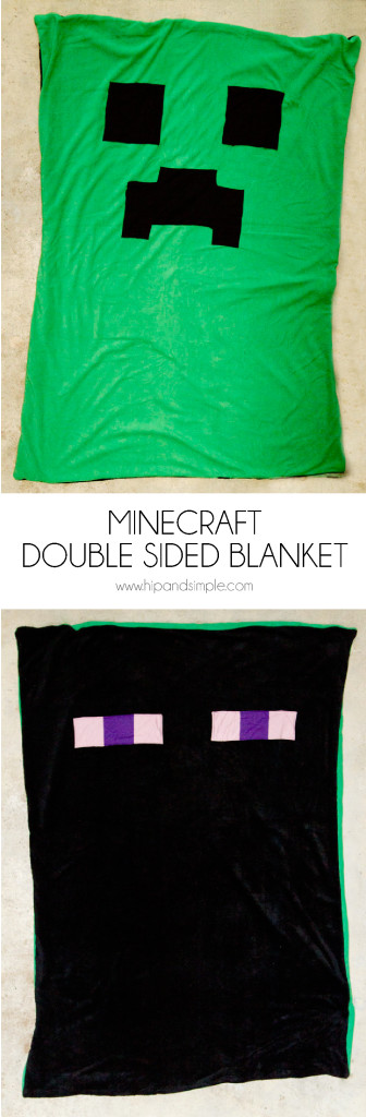 Minecraft Double Sided Blanket - Hip and Simple Hero-01