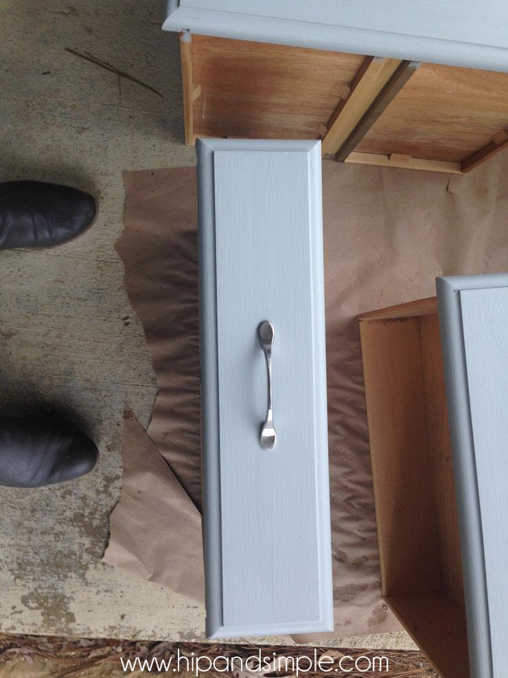 Shabby Chic Free Dresser Redo - No Sanding