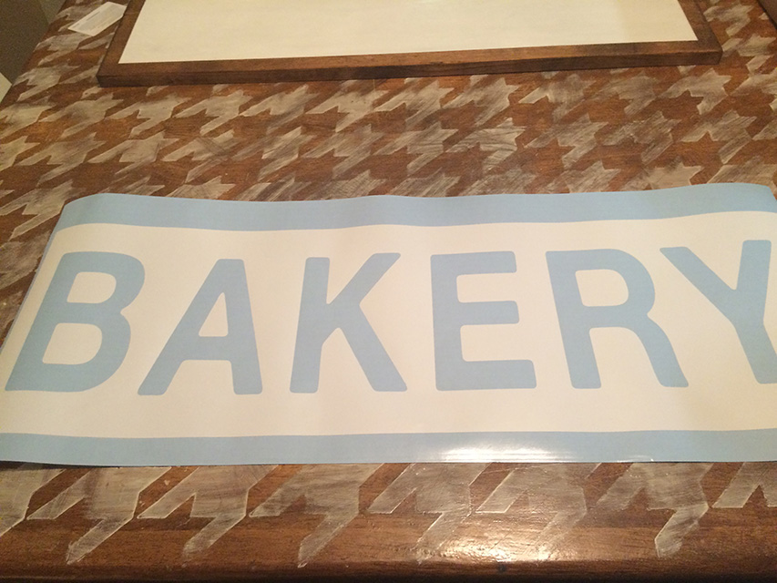 Bakery Sign DIY Farmhouse Decor - Stencil