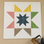 Quilt Block Wood Painted DIY Decor