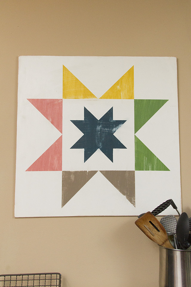Quilt Block Wood Painted DIY Decor - Final 2