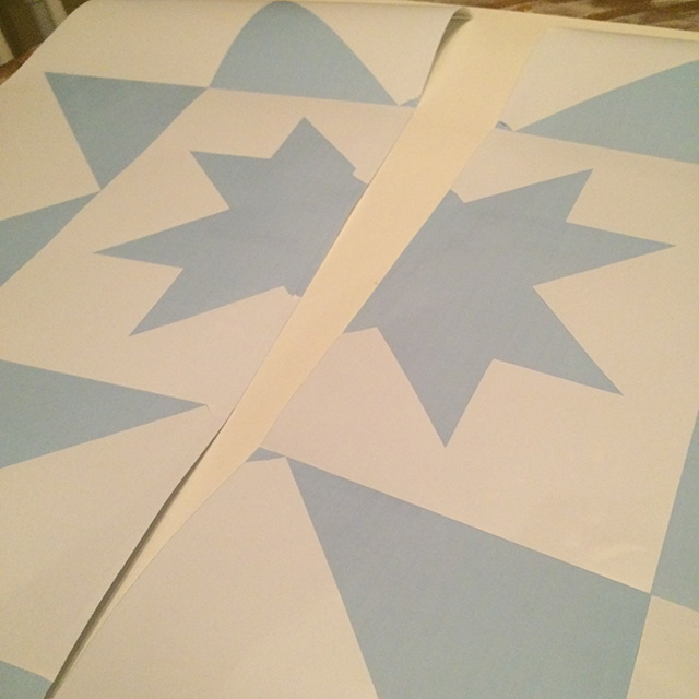 Quilt Block Wood Painted DIY Decor - Stencil