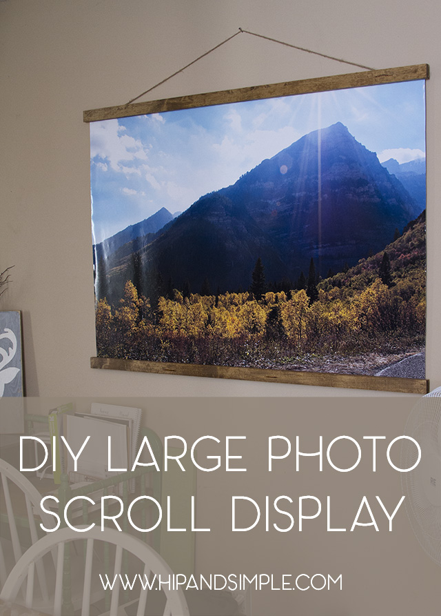 DIY Large Photo Scroll Display