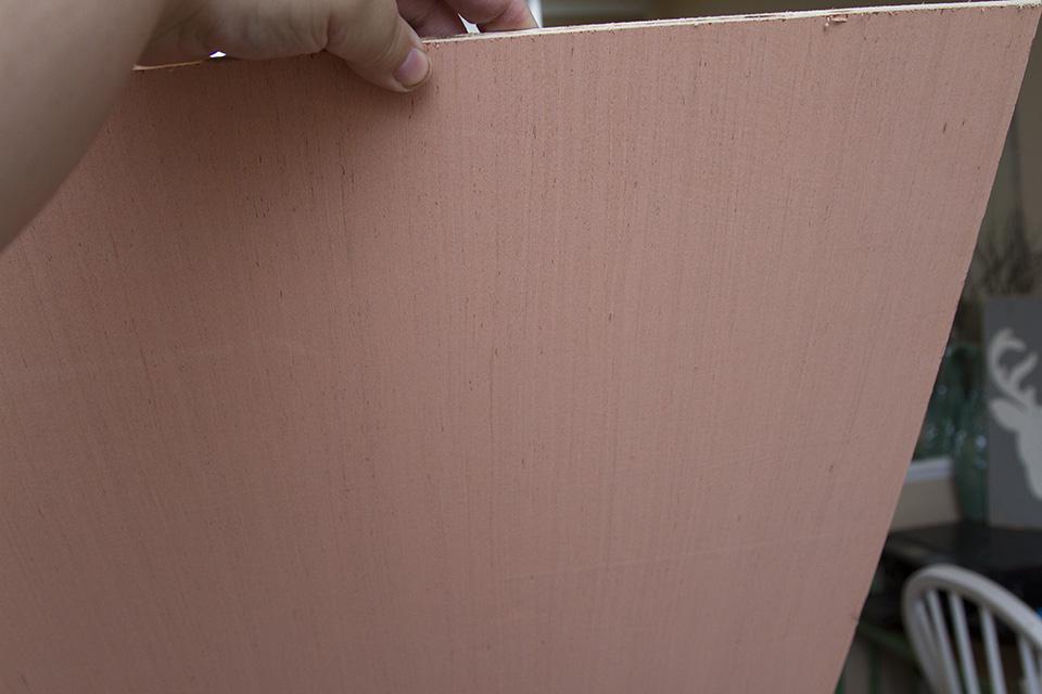 DIY Large Photo Scroll Display pink board