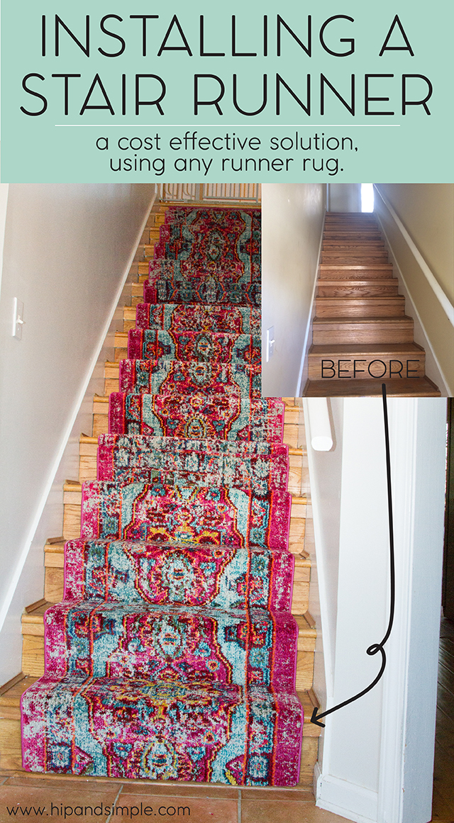 Etonnant One Of The Easier Things I Did Was Installing A Stair Runner On Our Wood  Floors.
