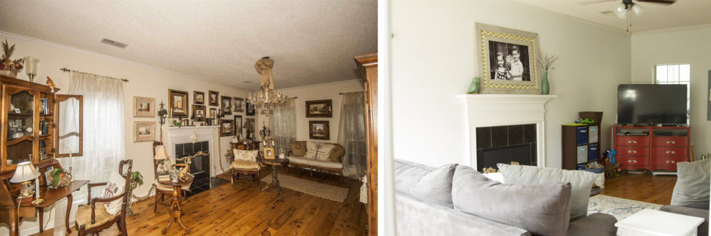 Before and After of Living Room