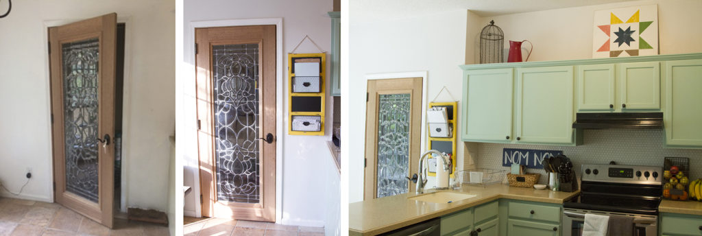 Before and After - the glass door