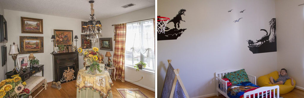 Before and after of sons room