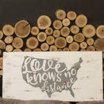 DIY USA Love Knows No Distance Wood Sign with Free Cut Files